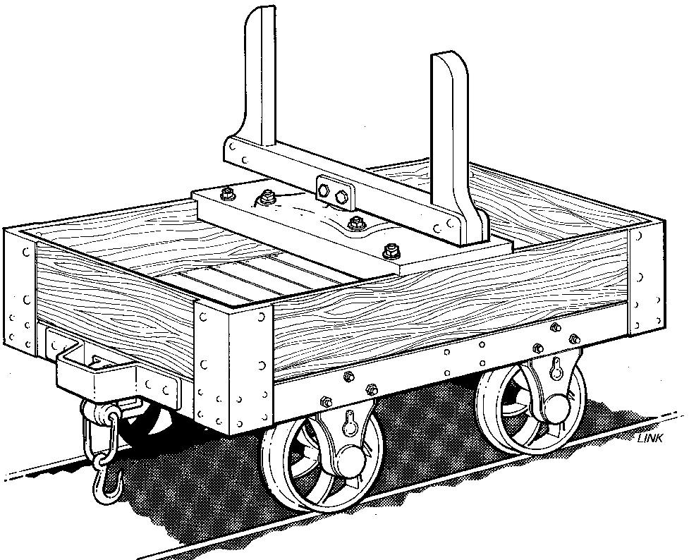 3005R Timber Bolster Wagon (2 Needed)