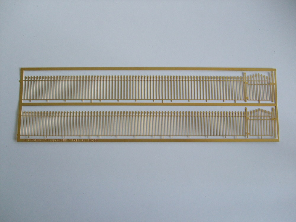 460206 4' High Acorn Top Iron Railings.