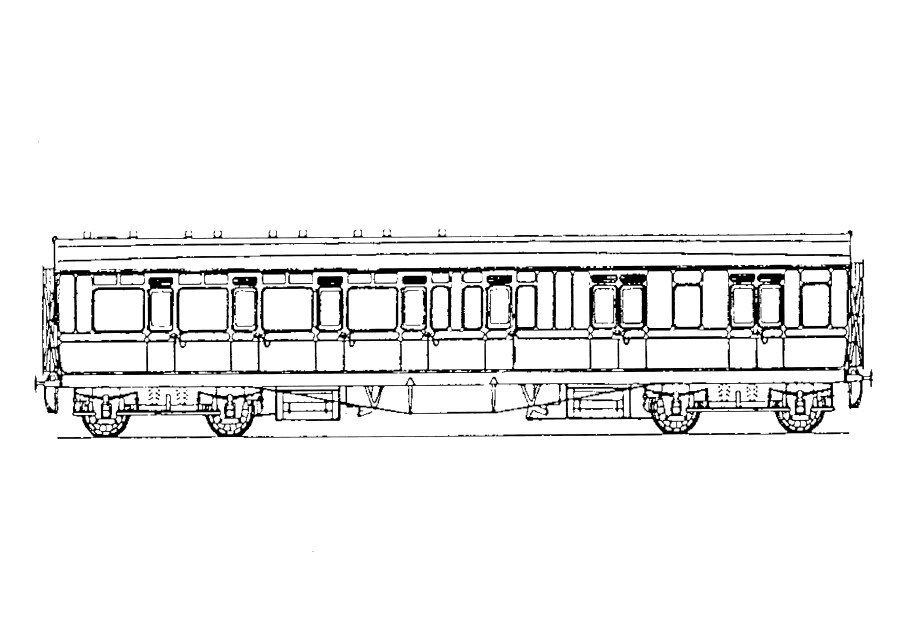 5202 GWR  D47 57' Toplight Coach Brake Third