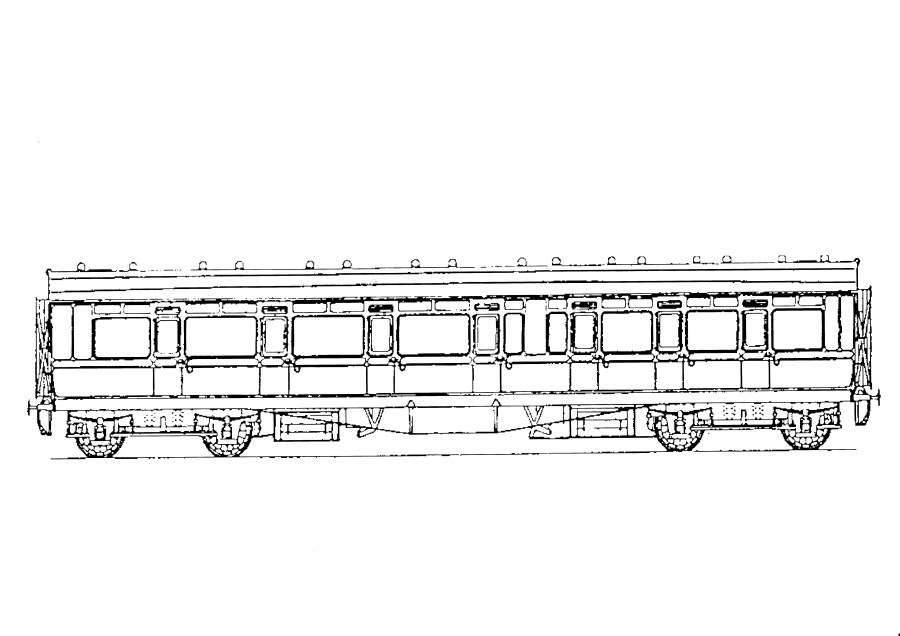 5203 GWR  E88 57' Toplight Coach Composite