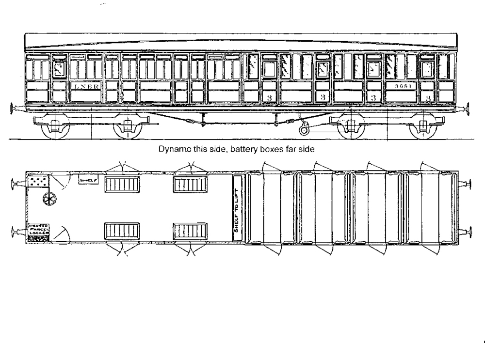 "8832 LNER 51' 0"" Non-Corridor 4 Compartment Brake 3rd"