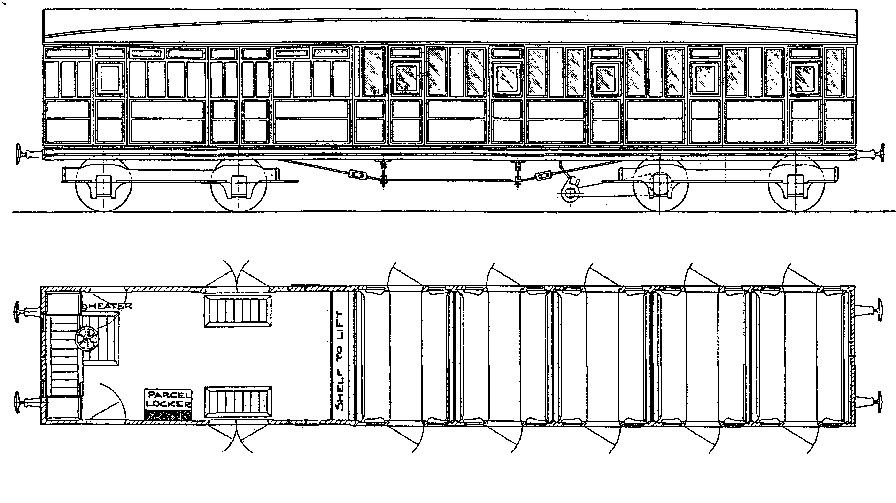 "8837 LNER 51' 0"" Non-Corridor 5 Compartment Brake 3rd"