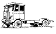 4010 AEC Monarch Lorry with Chassis & Cab Only