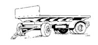 4012 Lorry Trailer Flatbed Body