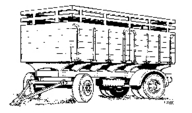 4014 Lorry Trailer High Sided Body