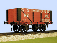 S4040W(S) CR PO 7 Plank Side Door Wagon Simmons