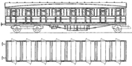 8965 LNER 2 Car Artic Set 3rd Lav Composite